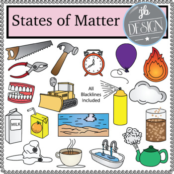 States of Matter (JB Design Clip Art for Personal or Commercial Use)