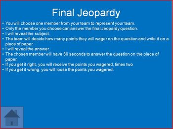 States of Matter Jeopardy (25 Questions plus Final)