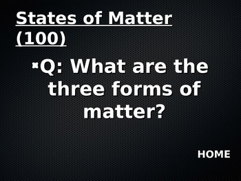 States of Matter Jeopardy Review Game!