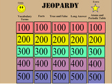 States of Matter Jeopardy Review Game