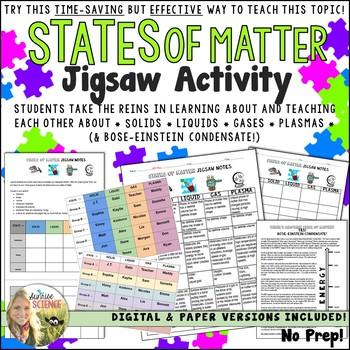 States of Matter Jigsaw Activity