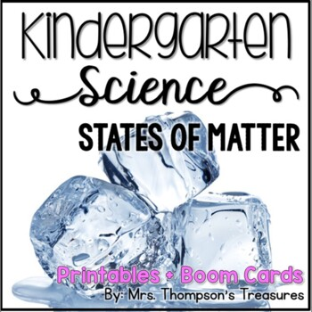 States of Matter Kindergarten Science NGSS