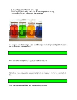 States of Matter Lab for ESL/ SPED