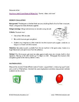 """States of Matter Learning Guide for """"What's the Matter?"""""""