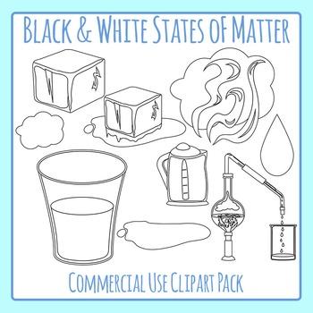 states of matter line art solid liquid gas clip art for rh teacherspayteachers com Boiling Water Clip Art Steam Clip Art