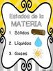States of Matter/ Los tres estados de la materia (Spanish)