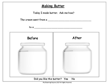 States of Matter:  Making Butter