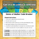States of Matter - Middle School CODE BREAKER Revision Activity