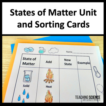 States of Matter NGSS and Sorting Cards2-PS1-4