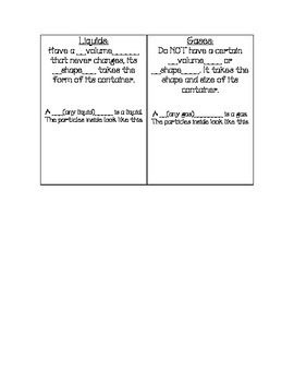 States of Matter Notes Booklet