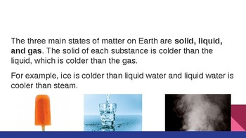 States of Matter PPT - Goes with Scaffolded Notes