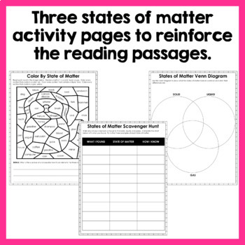 States of Matter - Paired Texts - Passages, Activities, and Lab