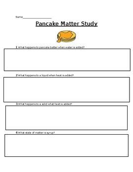 States of Matter - Pancake Study