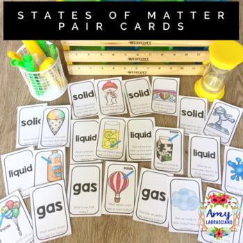 States of Matter Partner Pairing Cards