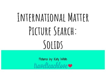 States of Matter Picture Search