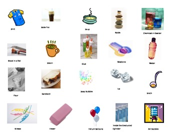 States of Matter Picture Sort