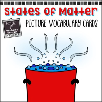 States of Matter Picture Vocabulary Cards