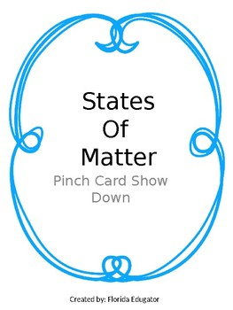 States of Matter Pinch Card Show Down