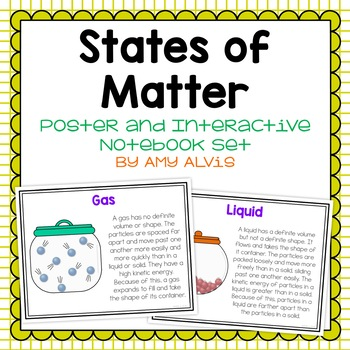 States of Matter Poster and Interactive Notebook INB Set