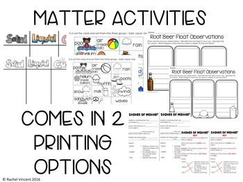 States of Matter Posters, PowerPoint, Activities, Poems, & Anchor Chart