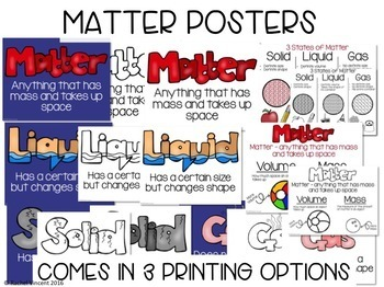 States of Matter Posters, PowerPoint, Activities, Poems | Google Classroom