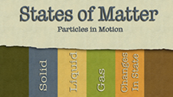 States of Matter (PowerPoint w/ Worksheet)