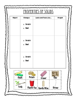States of Matter Unit - Properties of Liquids and Solids Experiments