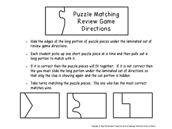 States of Matter Puzzle Matching Review Game