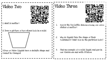 States of Matter QR Code Quest & Activities