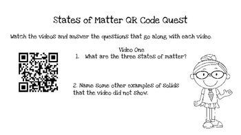States of Matter QR Code Quest & Activities