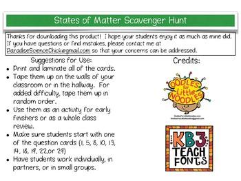 States of Matter QR Code Scavenger Hunt