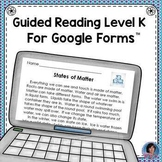 States of Matter Reading Comprehension Passage & Questions for Google Classroom
