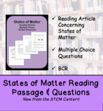 States of Matter Reading Passages and Questions Activity