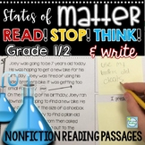 States of Matter Reading Passages with Stop and Think ~ All About Matter Reading