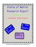 States of Matter Research Report for ELA and Science CCSS
