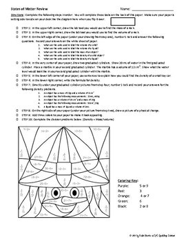 States of Matter Review Worksheet (Halloween Theme)