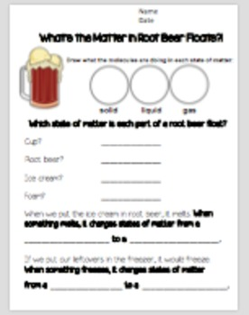 States of Matter Lab: Root Beer Floats!