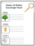 States of Matter Scavenger Hunt