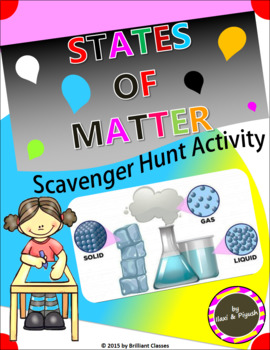 States of Matter Scavenger Hunt Activity