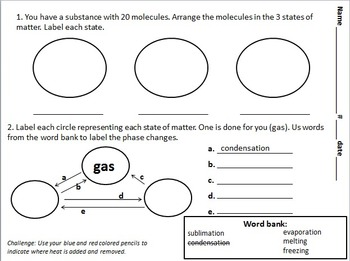 States of Matter Science Check In Assessment