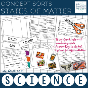 States of matter matching teaching resources teachers pay teachers states of matter science concept sorts states of matter science concept sorts fandeluxe Images