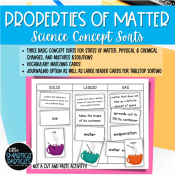 States of Matter: Science Concept Sorts