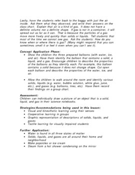States of Matter Science Lesson Plan-1st-3rd grade