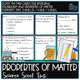 Properties of Matter Science Scoot 'Ems
