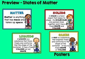 States of Matter Science Unit (Solids, Liquids and Gas)