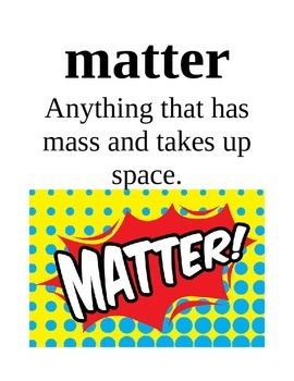 States of Matter Science Vocabulary Posters