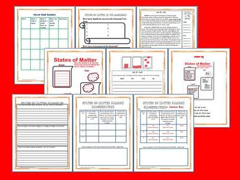 States of Matter Science and Literacy Lesson Set (TEKS)