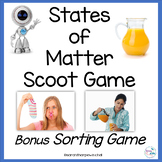 States of Matter Scoot Game Solids, Liquids, Gases NGSS 2-PS1 2-PS1-1 2-PS1-2 2