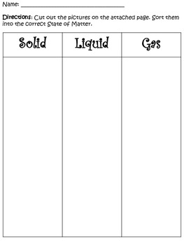 States of Matter (Solid, Liquid, Gas Bundle)