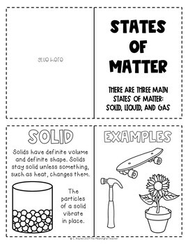 States of Matter: Solid, Liquid, and Gas Interactive Notebook Booklet